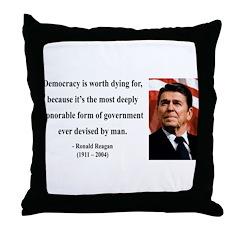 Ronald Reagan 15 Throw Pillow