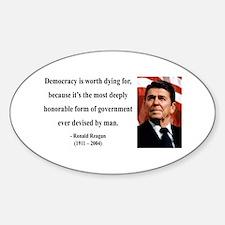 Ronald Reagan 15 Oval Decal