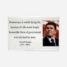 Ronald Reagan 15 Rectangle Magnet