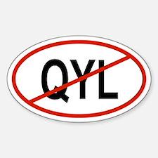 QYL Oval Decal
