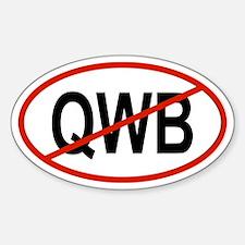 QWB Oval Decal