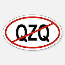 QZQ Oval Decal