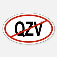 QZV Oval Decal
