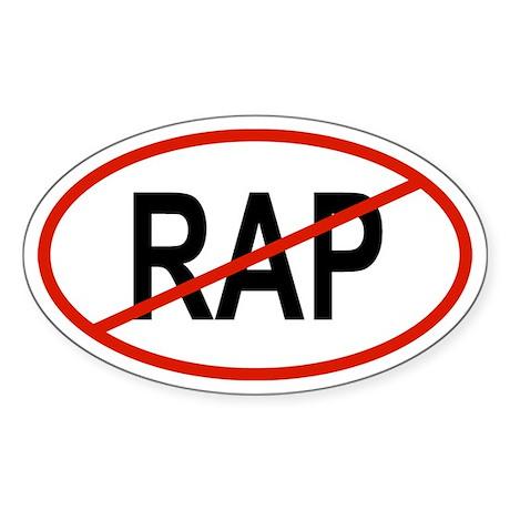 RAP Oval Sticker