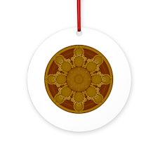 Beige Crop Circle Ornament (Round)