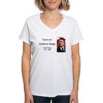 Ronald Reagan 16 Women's V-Neck T-Shirt