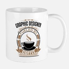 Graphic Designer Fueled By Coffee Mugs