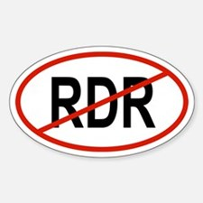 RDR Oval Decal