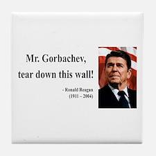 Ronald Reagan 17 Tile Coaster