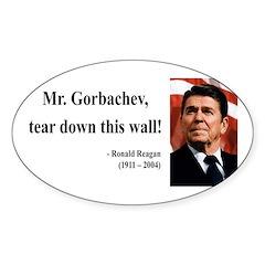 Ronald Reagan 17 Oval Decal