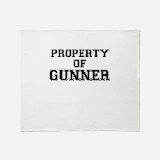 Property of GUNNER Throw Blanket