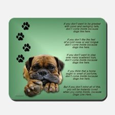 Mastiff & Verse Mousepad
