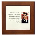 Ronald Reagan 18 Framed Tile