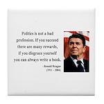Ronald Reagan 18 Tile Coaster
