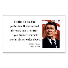 Ronald Reagan 18 Rectangle Decal