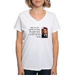 Ronald Reagan 18 Women's V-Neck T-Shirt