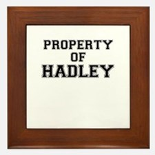 Property of HADLEY Framed Tile