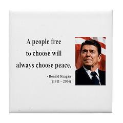 Ronald Reagan 19 Tile Coaster