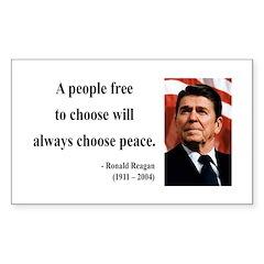 Ronald Reagan 19 Rectangle Decal