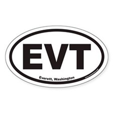 Everett Washington EVT Euro Oval Decal
