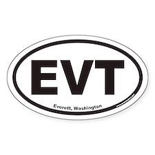 Everett Washington EVT Euro Oval Decal