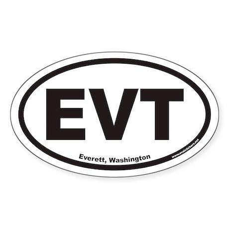 Everett Washington EVT Euro Oval Sticker