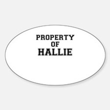 Property of HALLIE Decal
