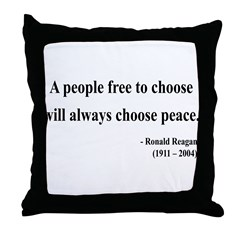 Ronald Reagan 19 Throw Pillow