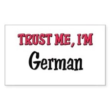 Trusty Me I'm German Rectangle Decal