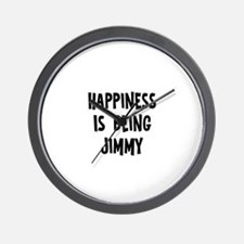 Happiness is being Jimmy Wall Clock