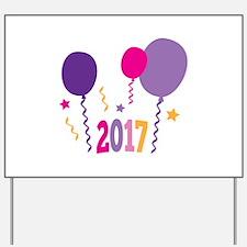 2017 New Year Yard Sign