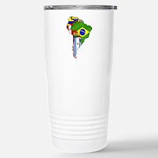 South America Flag Map Travel Mug