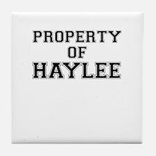 Property of HAYLEE Tile Coaster