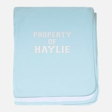 Property of HAYLIE baby blanket
