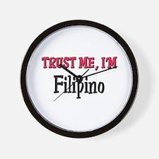 Trusty Me I'm Filipino Wall Clock