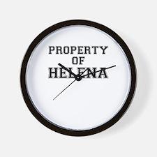 Property of HELENA Wall Clock