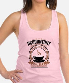 Accountant Fueled By Coffee Racerback Tank Top