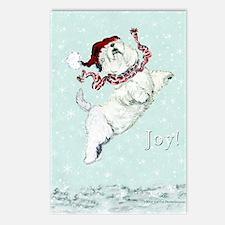 Westie Winter Terrier Postcards (Package of 8)