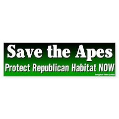 Save the Apes Bumper Bumper Sticker