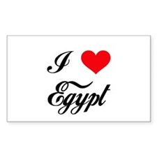 I Love Egypt Rectangle Decal