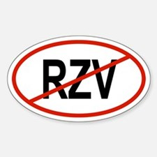 RZV Oval Decal