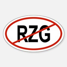 RZG Oval Decal