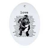 Pit bull Oval Ornaments