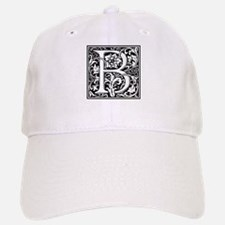 Elegant Vintage Flourish Letter B Monogram Hat