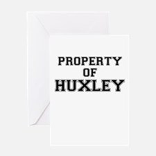 Property of HUXLEY Greeting Cards