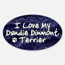 Funky Love Dandie Dinmont Terrier Oval Decal