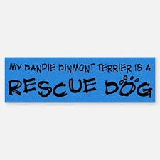 Rescue Dog Dandie Dinmont Terrier Bumper Bumper Bumper Sticker