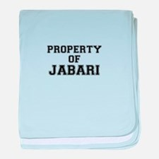 Property of JABARI baby blanket