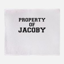 Property of JACOBY Throw Blanket