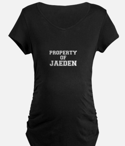 Property of JAEDEN Maternity T-Shirt